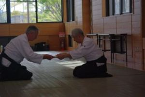 Williams Sensei awarded his 10th dan by Maruyama Sensei, Japan 2010